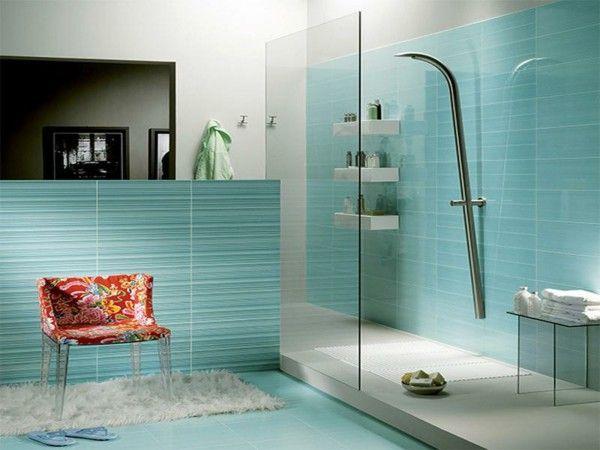 Shower modern design tiles large bathroom