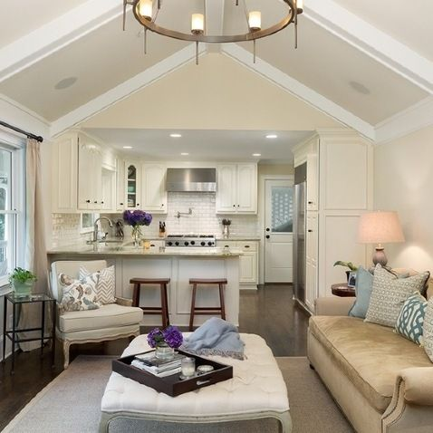 Open Concept Kitchen Dinette Family Room Design Ideas Pictures Remodel And Decor In Law Suite