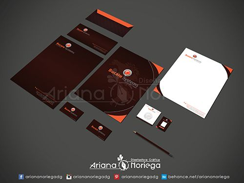 Diseño de Papelería Corporativa para la empresa Bucare Systems, Tachira, Venezuela