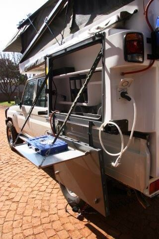 Abba campers compact with water on tap at kitchen