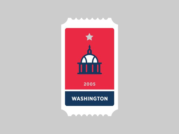 Washington Nationals MLB Ticket. MLB Ticket Icon Series by Jon Ringger. #MLB #graphic #baseball