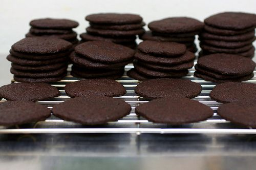 Homemade Chocolate Wafers. Bet these would be SO good in Grandma's peppermint Christmas dessert thing.
