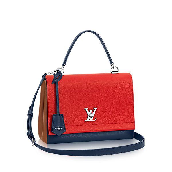 LOUIS VUITTON Lockme Ii. #louisvuitton #bags #shoulder bags #leather #lining #metallic #