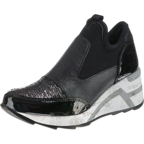 Weißmeliertschuhefashion Grau Sneaker Basaltgrau Cetti Schwarz MGqVpzSU