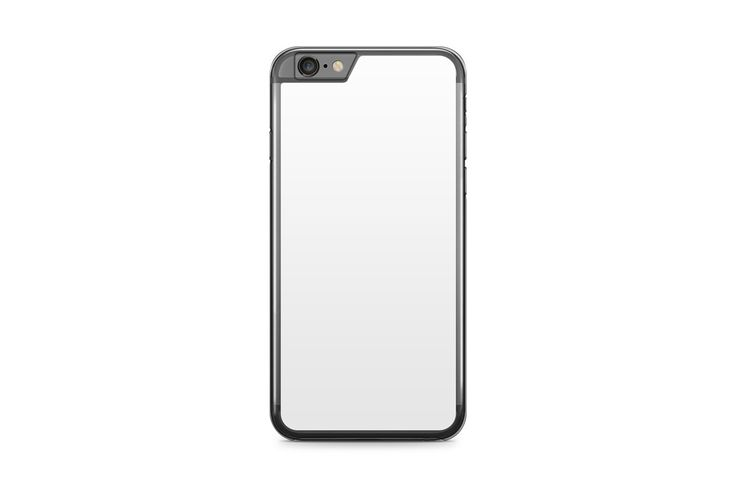 iphone 6 6s plus mobile clear case design mockup psd template for 2d heat transfer