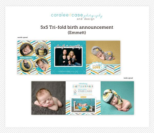 15 best Birth Announcements images – Tri Fold Birth Announcement