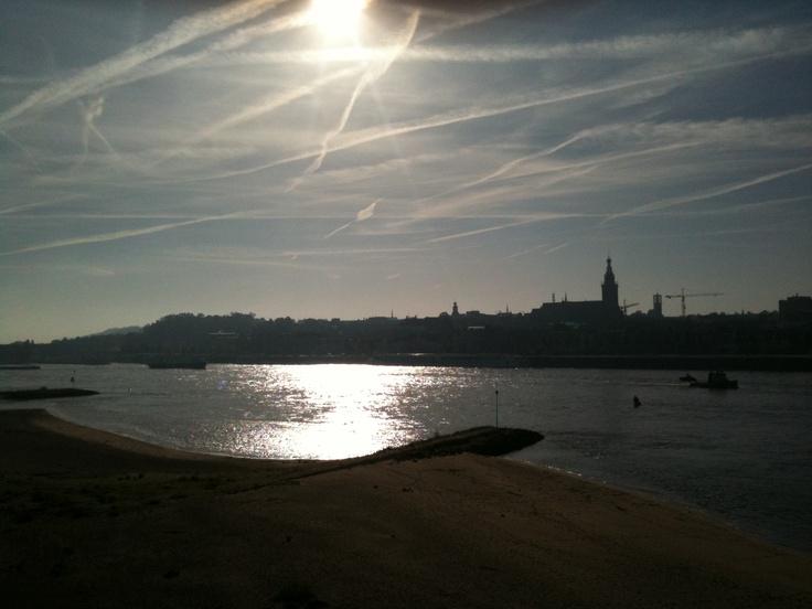 City of Nijmegen at the river
