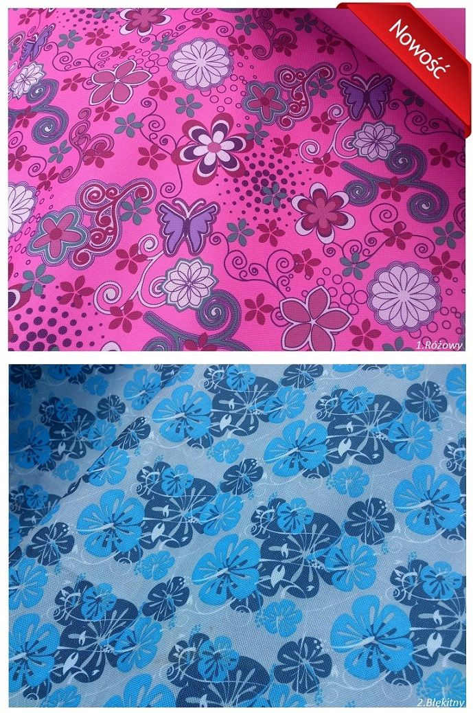 Tkanina PVC- Piękny wzór kwiatowy Punkttapicerski