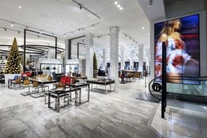 Featuring a restrained monochrome palette and premium finishes; the design elevates the store experience with a more aspirational, fashion-led attitude.