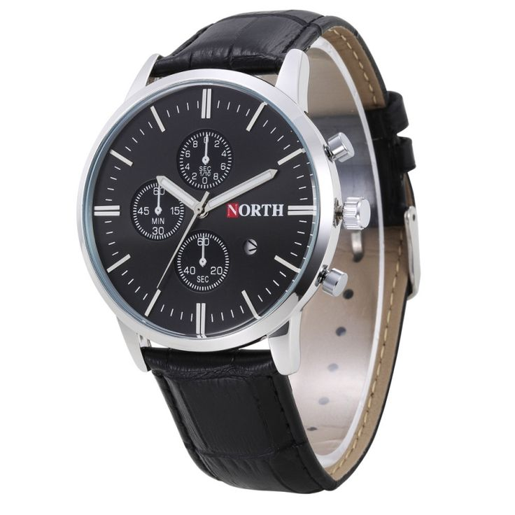 7.83$  Watch now - http://ali90p.shopchina.info/go.php?t=32787864376 - North Hot Sale New Fashion Mens watches relogio masculino de luxo Calendar Men Quartz Wrist Watch PU Leather casual Watch reloj 7.83$ #shopstyle