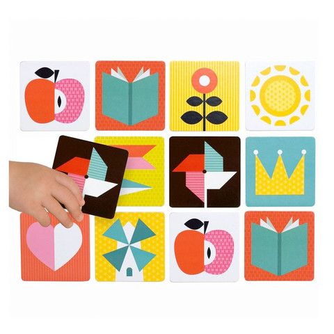 Petit Collage - Memory Game - Menagerie at willobaby.com