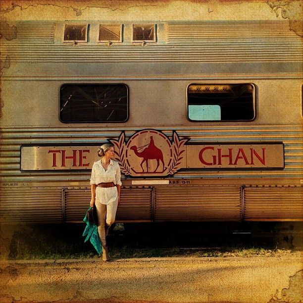 Boarding the famous Ghan Train for an overnight journey. Next stop: Katherine Gorge.