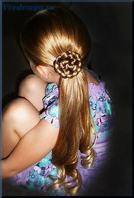 Колоски и косы - прически для девочек   Прически для ...