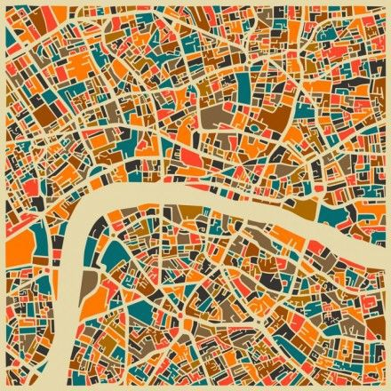 London Map by Jazzberry Framed Graphic Art