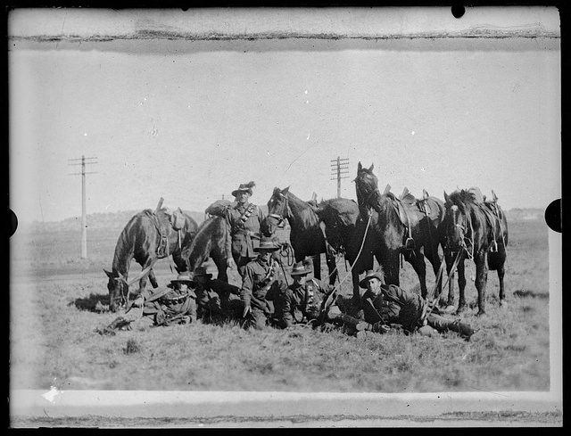 The Seventh Light Horse Regiment of World War 1, Gundagai, New South Wales, ca. 1918 / Charles Gabriel | Flickr - Photo Sharing!