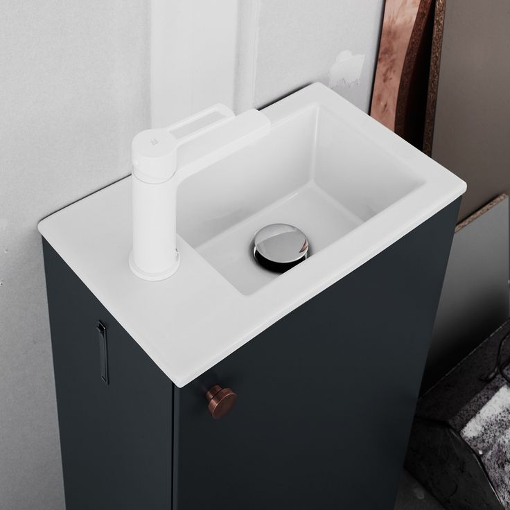 Swoon Single, small cabinet for small bathrooms. With integrated towel holders. #bathroom #home #scandinavian #design #badrum