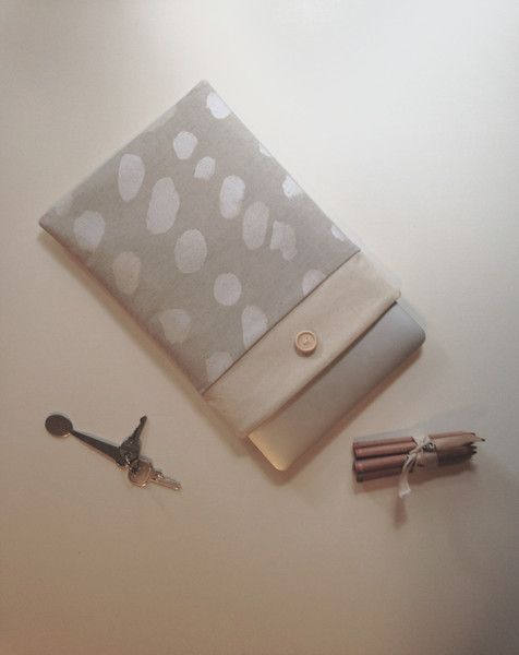 13 inch Laptop Case, Nani Iro: Pierre Pocho,  Macbook Air Sleeve, macbook Pro Retina Display Case, Custom Size New macbook Cover