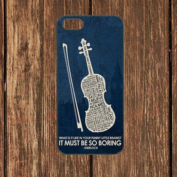 Sherlock Holmes Violin iphone case, epic!
