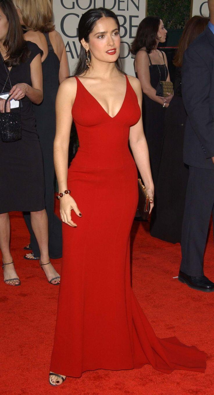 red dress salma hayek