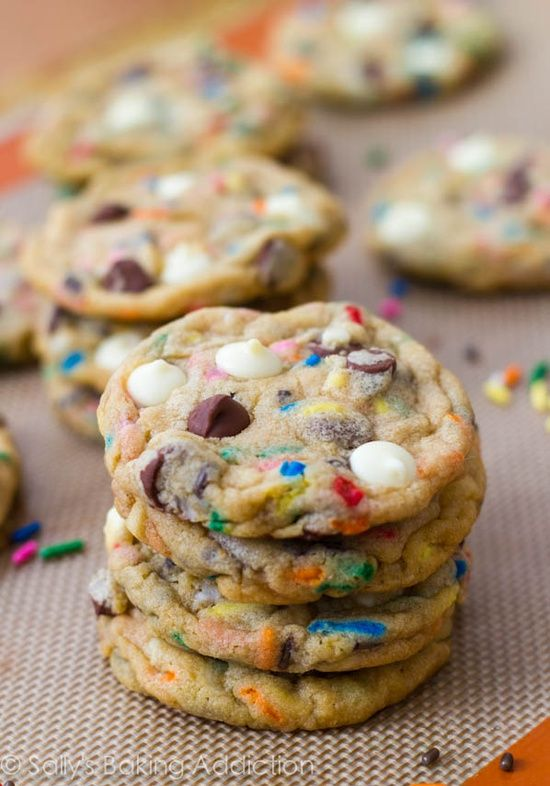 @Bevvvvverly Burns I request these cookies.   Cake Batter Chocolate Chip Cookies.
