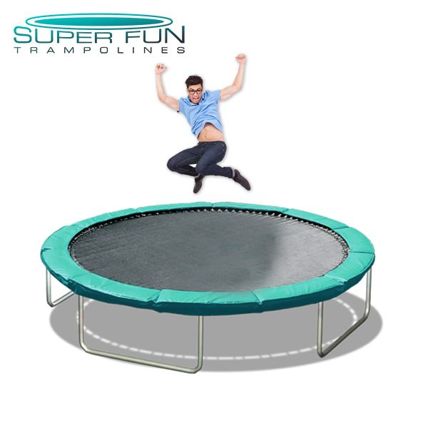 16′ Mega Bounce $1,495.00  Our #1 Selling Trampoline! The 16′ Mega Bounce has 27% more jumping surface than the 14′ Super Bounce trampoline and is slightly smaller than our 16½ foot Big Air, making it the best mid-size choice. Click on the image to purchase on our website!