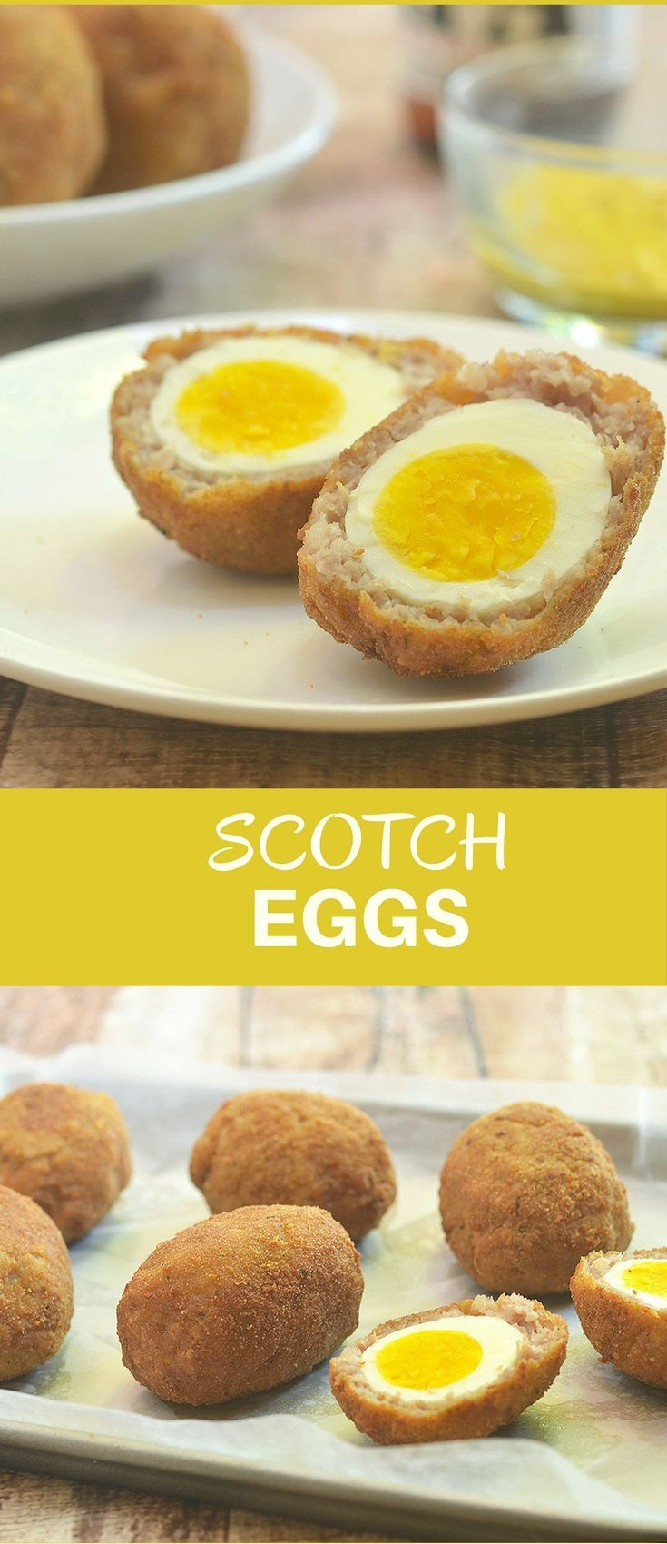 Scotch eggs wrapped in spicy sausage, breaded, and deep-fried to golden perfection are the perfect appetizer, picnic food or portable snack on-to-go.