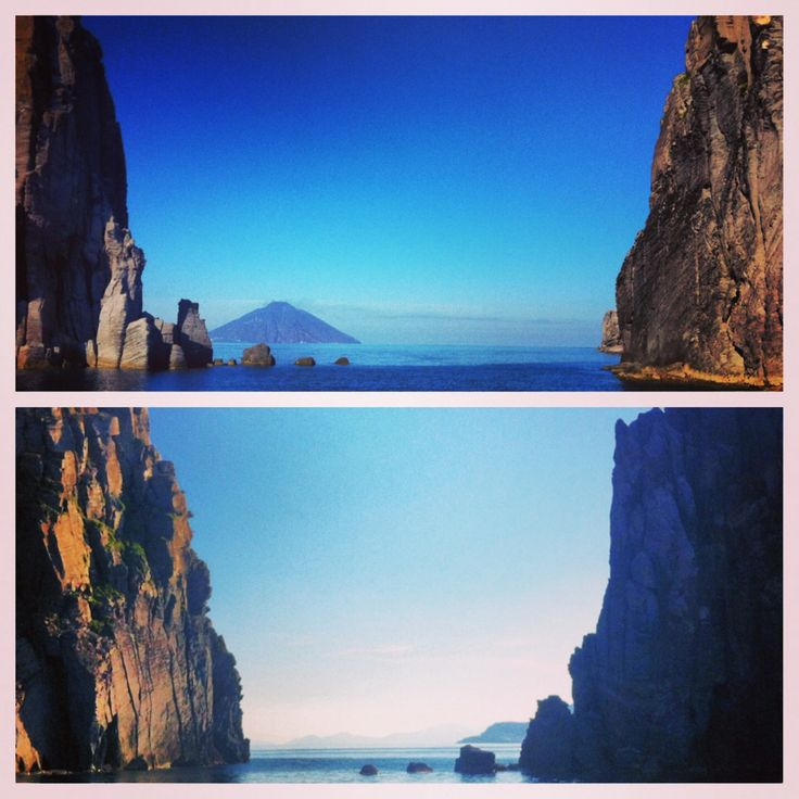 Fra l'isola di Basiluzzo e lo scoglio di Spinazzola. Questione di punti di vista... #eolietour13