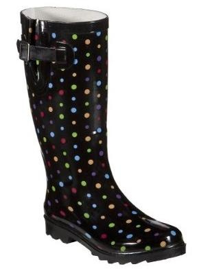 Polka dot rain boots!!! One of my 6 pair of rain boots - Love my boots!