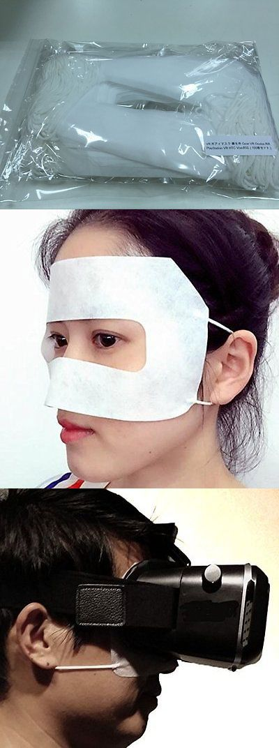 Other Virtual Reality Accs: Vr Face Cover Ninja Eye Mask Disposable 100 Sheets For Psvr Oculus Rift Htc Vive BUY IT NOW ONLY: $48.0