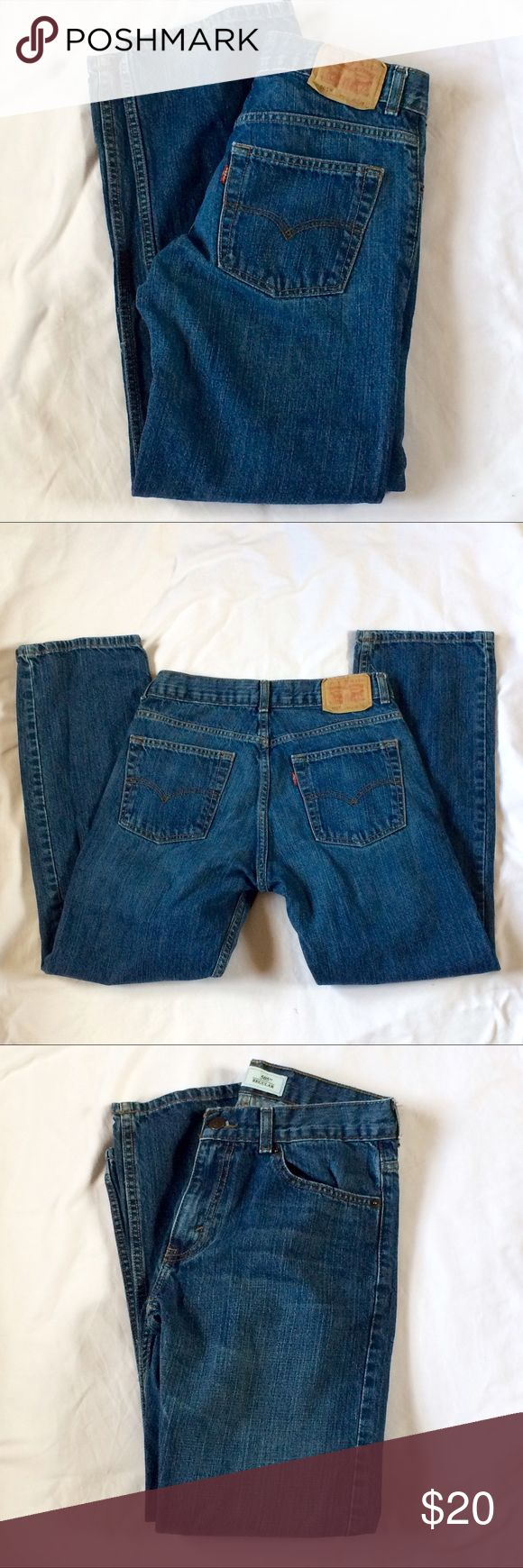 Levi's 505 Jeans Boy's 16 Levi's 505 Regular Jeans Boy's 16. Three pockets in the front. Two in the back. Size 16 regular. Waist 28, length 28. Levi's Bottoms Jeans