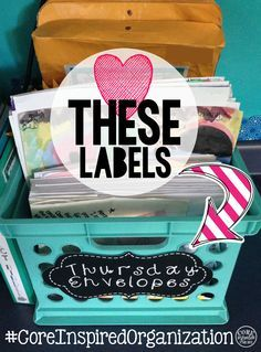 Love these classroom organization labels! Easy-to-read chalkboard theme will make my classroom look modern, yet chic.
