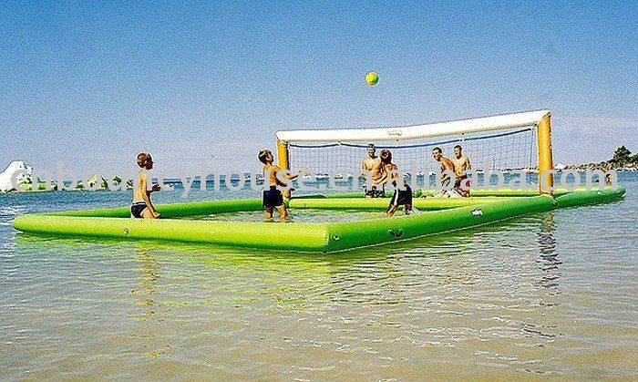 Floating beach volleyball! So cool.