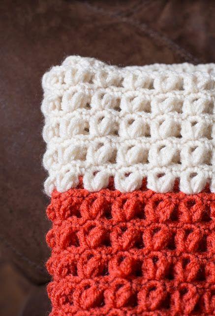 Coral and Aran Crochet Blanket
