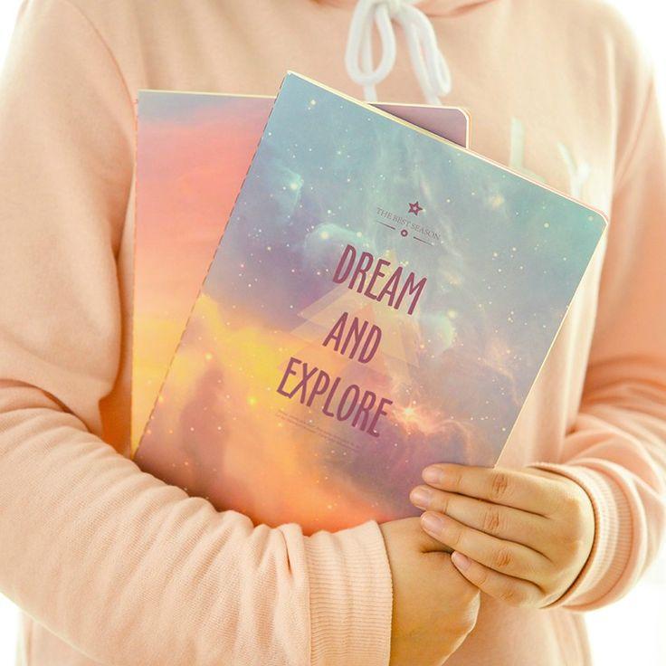 A6 симпатичные небо ноутбук дневник выстроились тетрадь блокнот журнал для детей школьными принадлежностями канцтовары бесплатная доставка 333 купить в магазине Stationery Retail на AliExpress