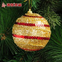Discount Luxury Christmas Ornaments Wholesale-Christmas tree decoration ornaments 8cm silver luxury Christmas ball ornaments sticky foam 25g