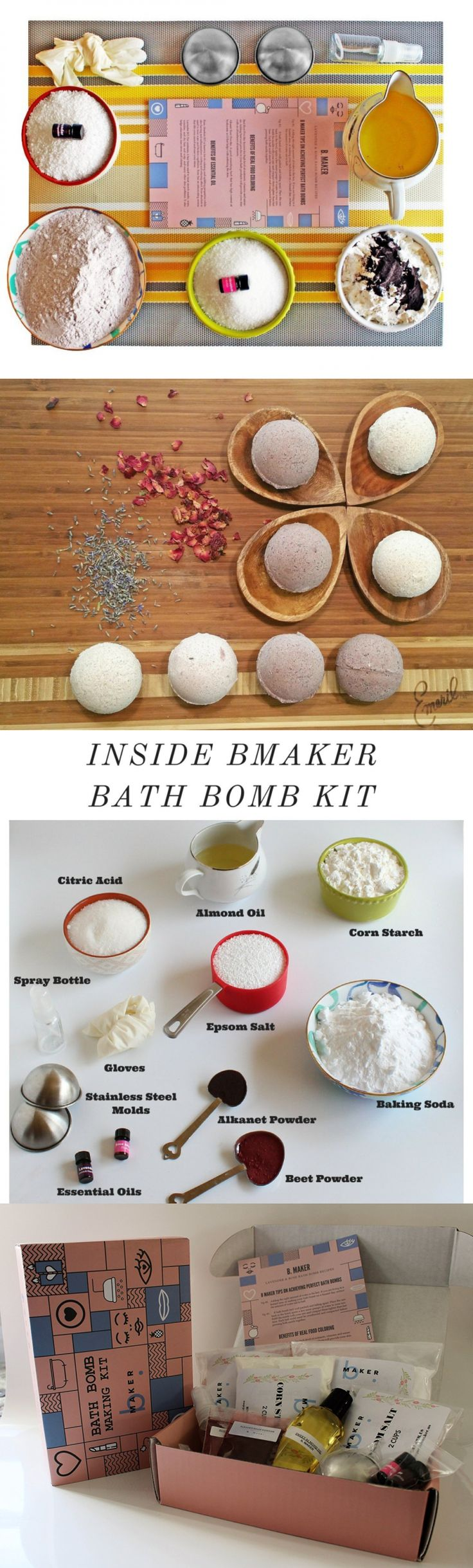 Bath Bombs and Fizzies: Bmaker Bath Bomb Making Kit- Complete Kit For Making Diy 8 Scented Bath Bombs Wi BUY IT NOW ONLY: $37.99