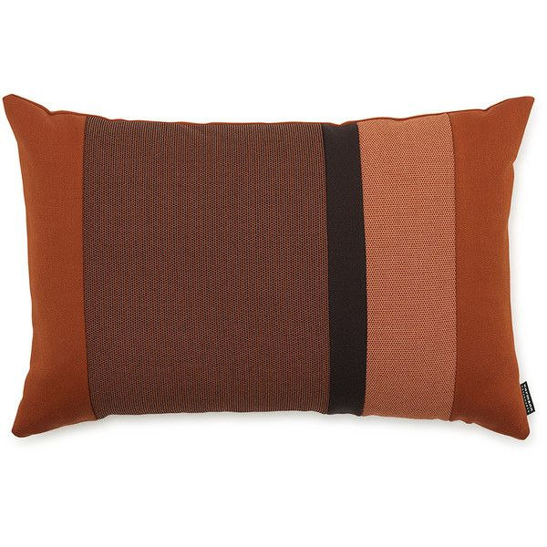 Normann Copenhagen Line Cushion - 40x60cm - Orange ($78) ❤ liked on Polyvore featuring home, home decor, throw pillows, orange, graphic throw pillows, orange toss pillows, contemporary throw pillows, textured throw pillows and orange throw pillows