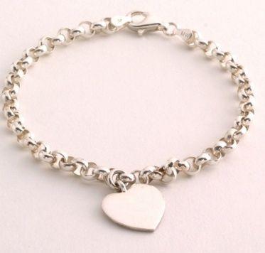 Bracelet - PERSONALISED HEART, STARTER CHARM - Sterling Silver