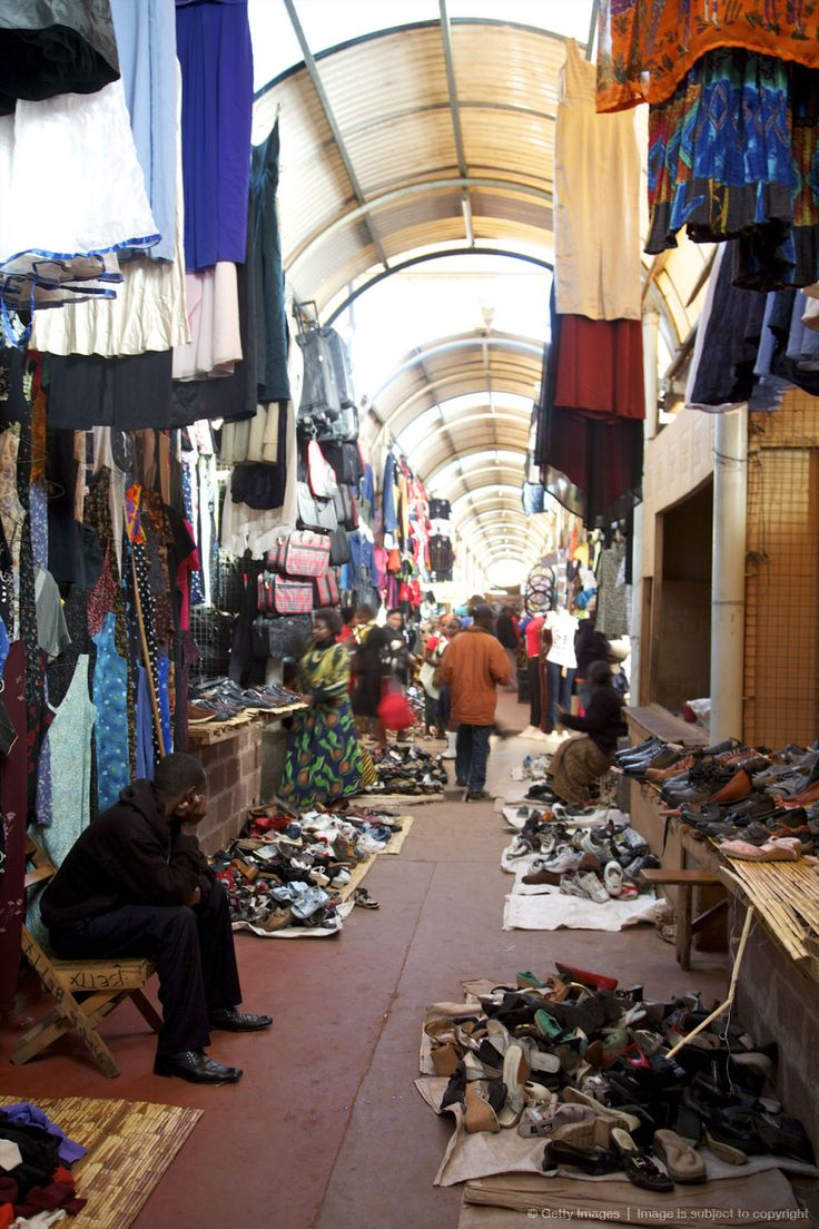 """View of Lusaka's famous """"Soweto Market"""", Lusaka, Zambia"""