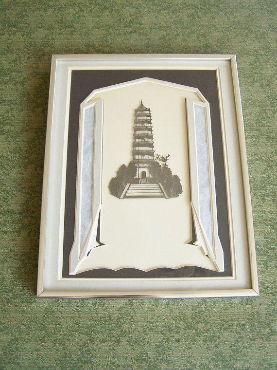 1930's Vintage Asian Art Deco Paper Cutting by Artdecogirlshop, $39.95