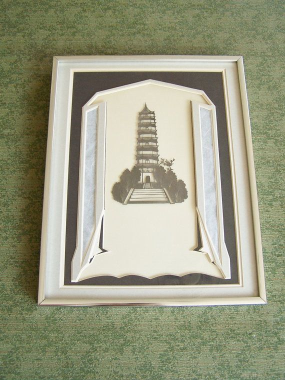 1930's Vintage Asian Art Deco Paper Cutting by Artdecogirlshop, $39.95