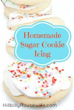 Homemade Sugar Cookie Icing. This is by far the easiest, most diverse and definitely yummiest homemade sugar cookie icing recipe that I have found.  http://www.hillbillyhousewife.com/homemade-sugar-cookie-icing.htm
