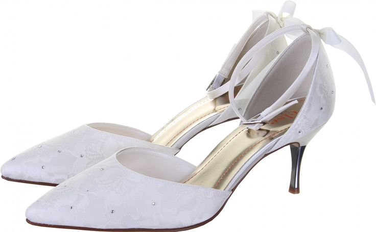 Else by Rainbow Club Fleurie Ivory Lace Wedding Shoes