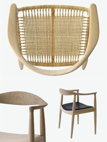 「ザ・チェア」の革張り座面のフレーム材は、オーク、ウォールナット、チェリーとあり、それぞれにラッカー、オイル仕上げがあります。  【籐張りの座面なら、他にアッシュ材のソープ仕上げも)