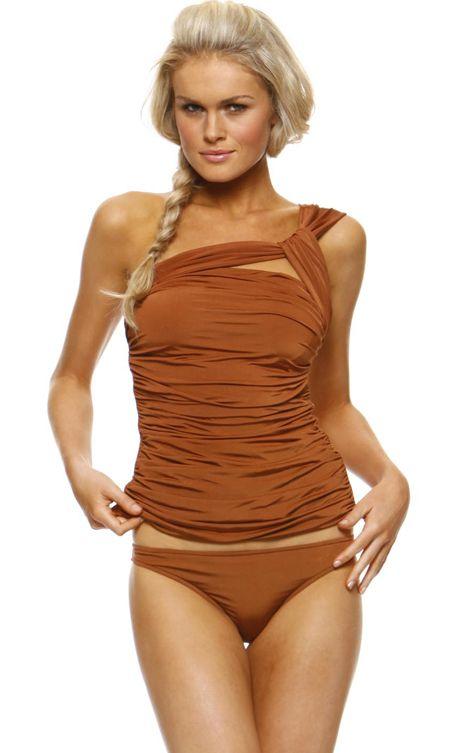a770f75794c7727a64b6ad3ebef704de daily fashion fashion spring 1 sol swimwear 1 sol swimwear asymmetrical tankini top with,1 Sol Swimwear