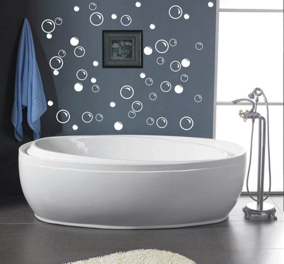 50 Large Soap Bubbles Decals Bathroom Wall Decals Vinyl Decal Wall Art Decor Removable Decals For Bathroom