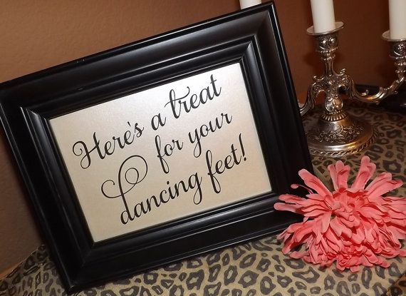 Hey, I found this really awesome Etsy listing at https://www.etsy.com/listing/178548788/dancing-shoes-wedding-sign-wedding-flip