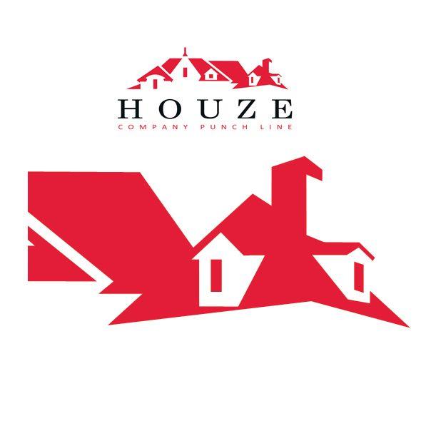 Houze logo template pinterest for Houze design