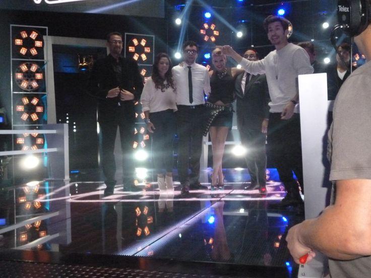 Foto de el combo de La Voz Colombia!!! Luis Fonsi ♥