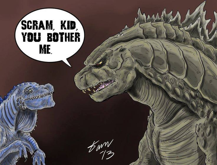 Funny Godzilla 2014 Fan Art